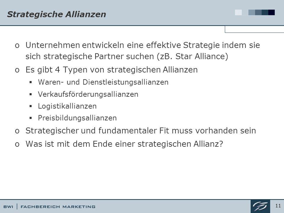 Strategische Allianzen oUnternehmen entwickeln eine effektive Strategie indem sie sich strategische Partner suchen (zB.