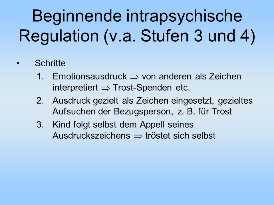 Beginnende intrapsychische Regulation (v.a.