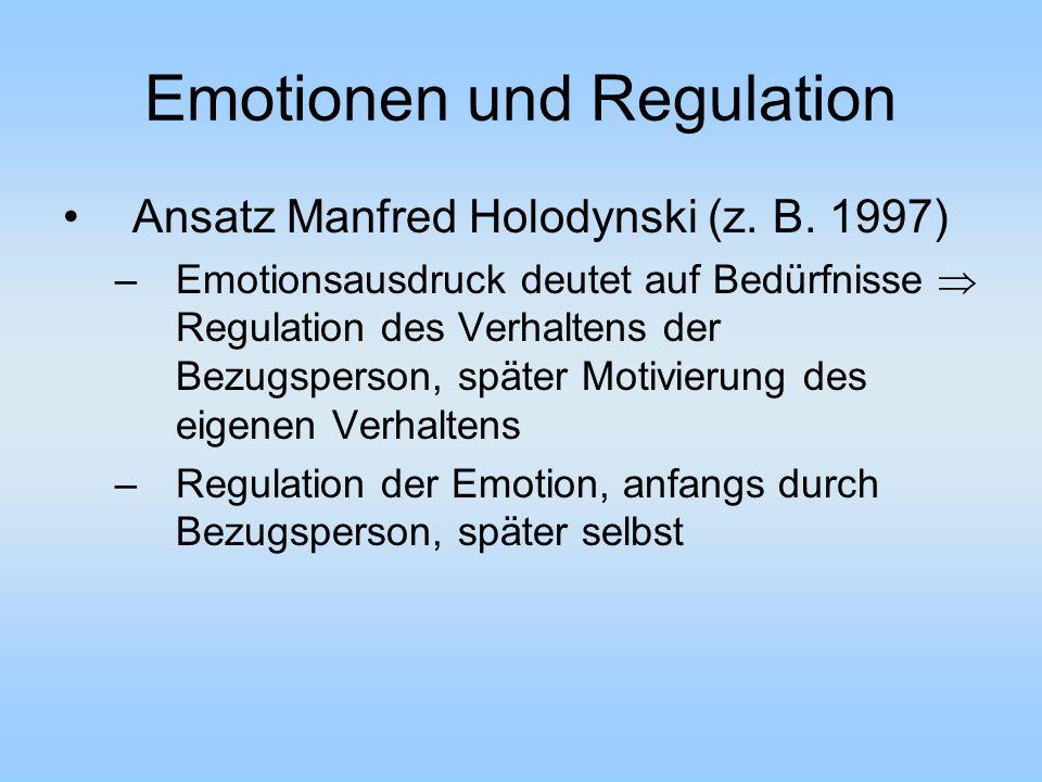 Emotionen und Regulation Ansatz Manfred Holodynski (z.