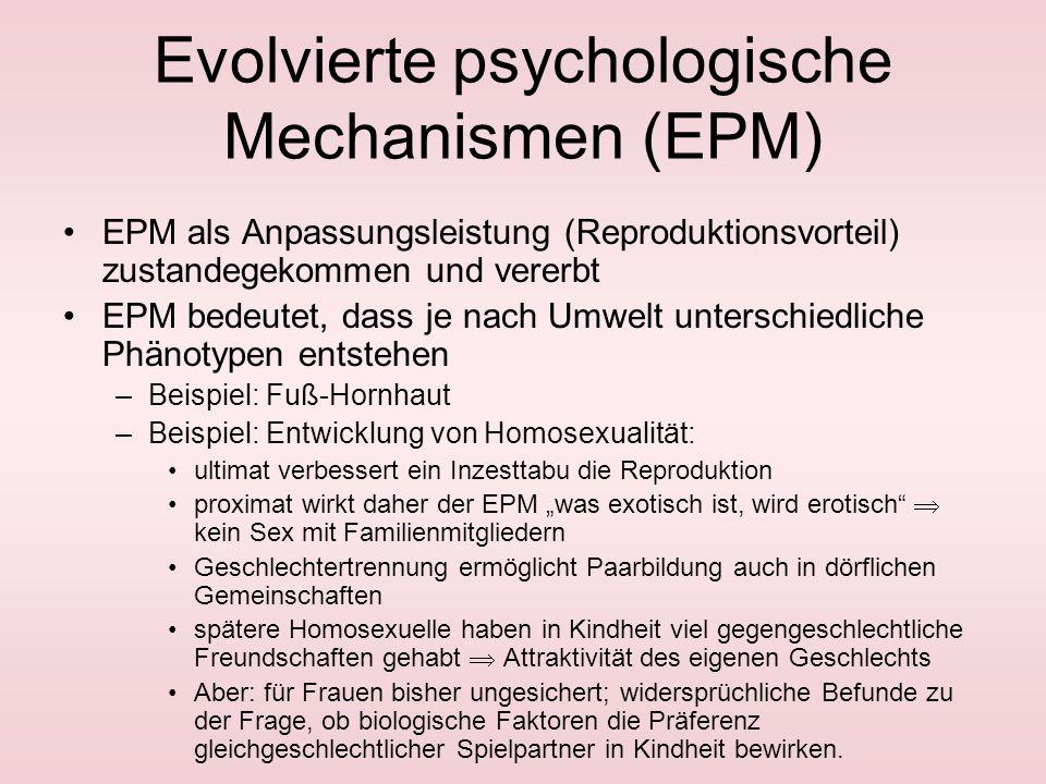 Grundlagen Selektion bezieht sich hauptsächlich auf Merkmale, die für Reproduktion wichtig sind und nicht z. B. auf Alzheimer. –intrasexuell: Ausschal