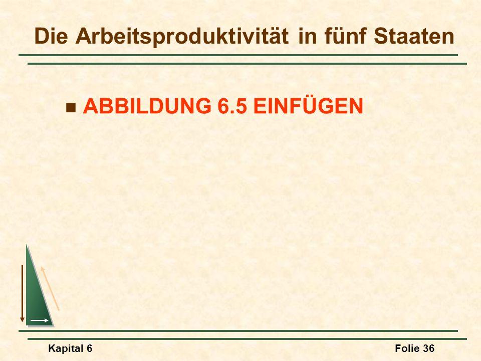 Kapital 6Folie 36 Die Arbeitsproduktivität in fünf Staaten ABBILDUNG 6.5 EINFÜGEN