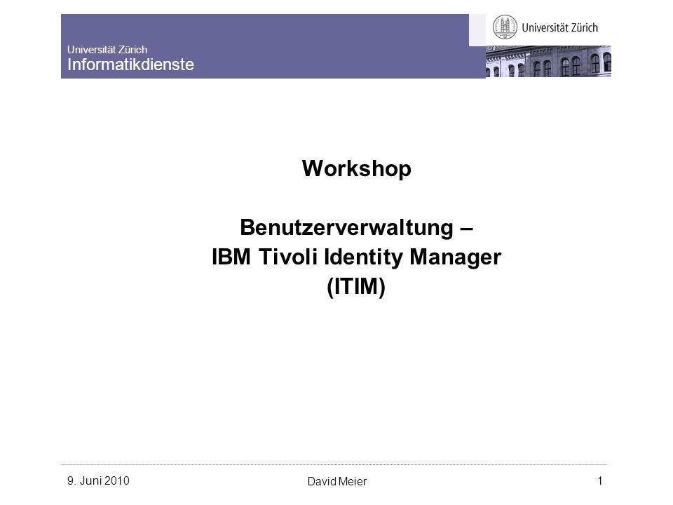 Universität Zürich Informatikdienste 9.