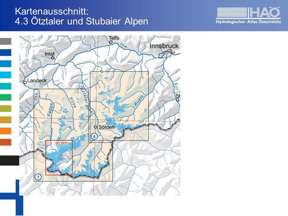 Kartenausschnitt: 4.3 Ötztaler und Stubaier Alpen
