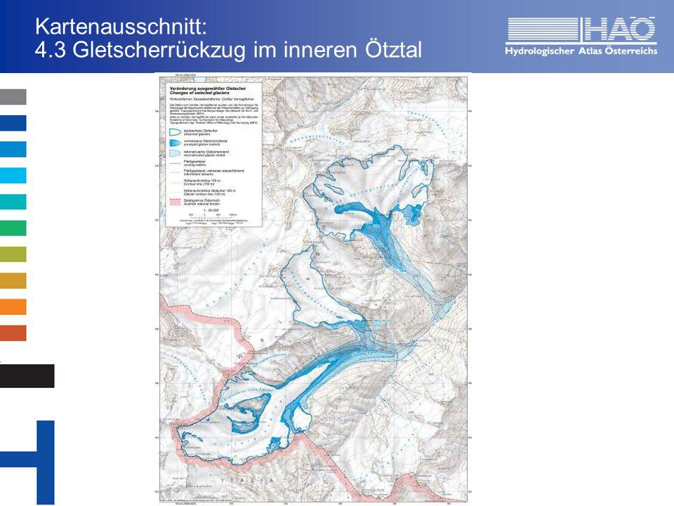 Kartenausschnitt: 4.3 Gletscherrückzug im inneren Ötztal