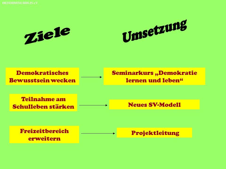 Zukunft Koordination für FSJ`ler an Schulen © KINDERRING BERLIN e.V.