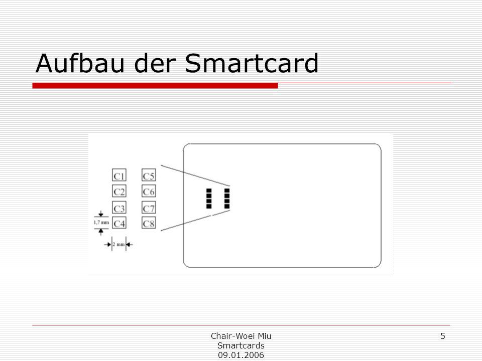 Chair-Woei Miu Smartcards 09.01.2006 5 Aufbau der Smartcard