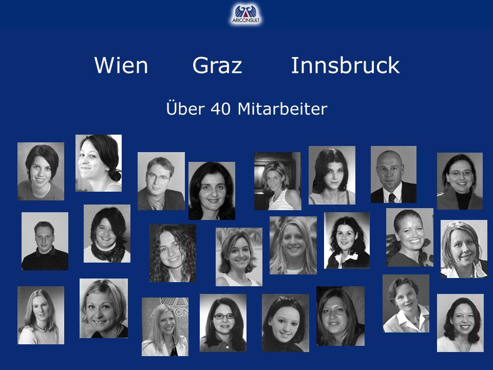 WienGrazInnsbruck Über 40 Mitarbeiter