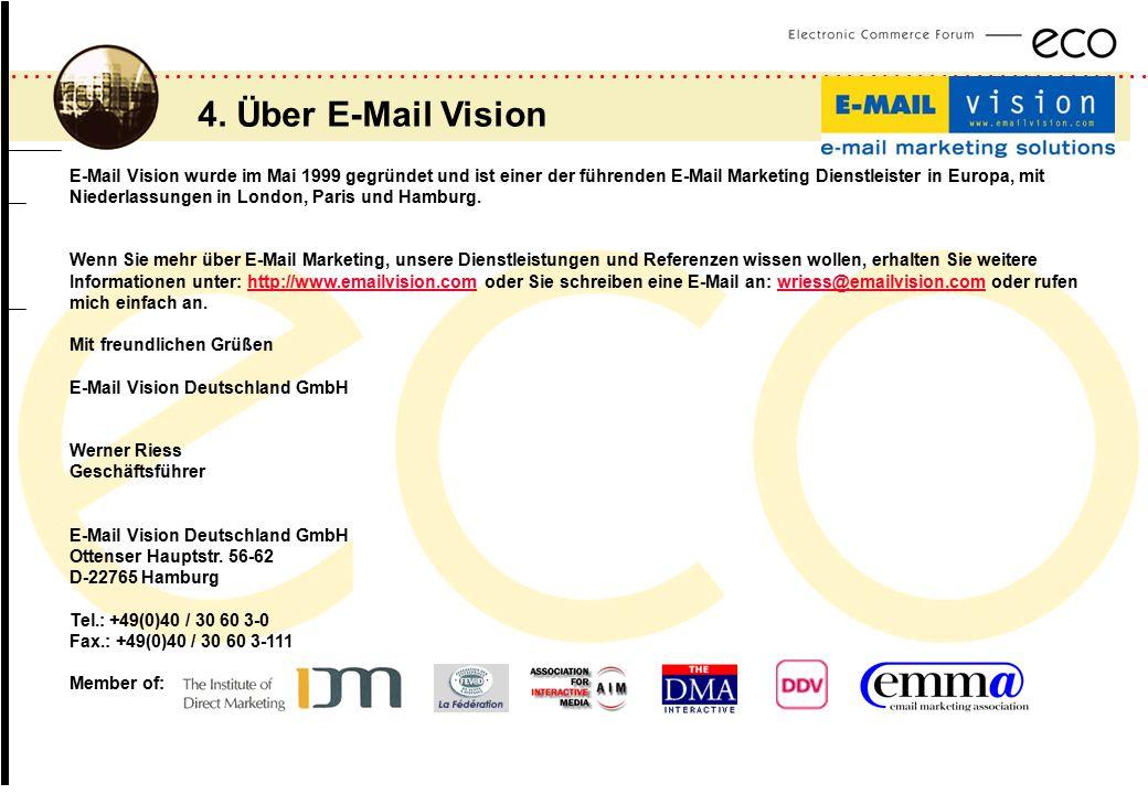 ................................................................................................. a E-Mail Vision wurde im Mai 1999 gegründet und ist