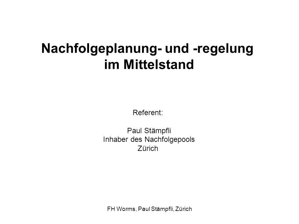 FH Worms, Paul Stämpfli, Zürich LeitbildGeschäftsmodell
