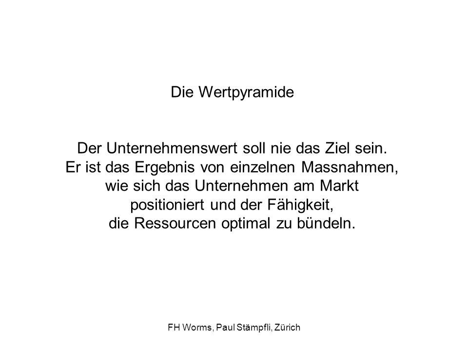 FH Worms, Paul Stämpfli, Zürich LeitbildGeschäftsmodellKernkompetenzen Strategie ProzesseOrganisation