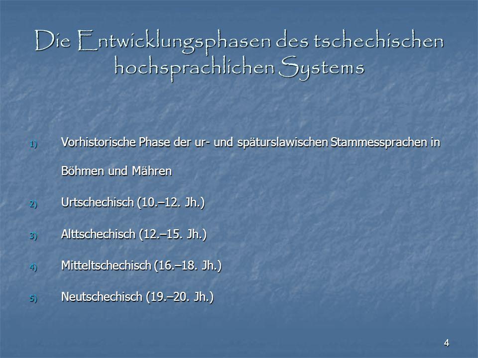 25 Quellenverzeichnis Vintr, Josef (2001): Das Tschechische: Hauptzüge seiner Sprachstruktur in Gegenwart und Geschichte.