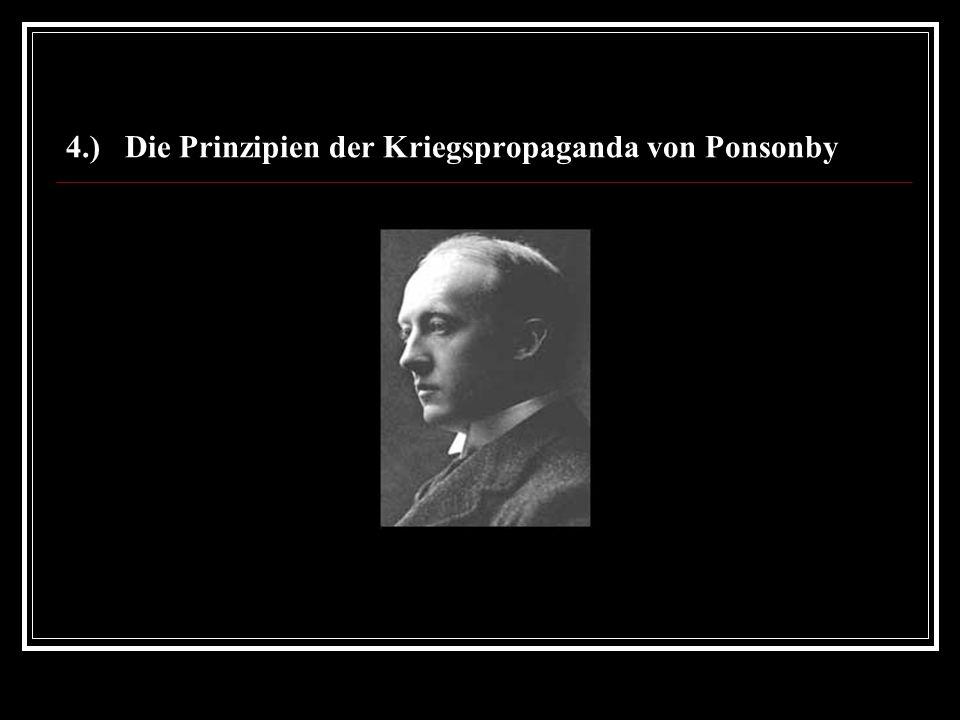 4.) Die Prinzipien der Kriegspropaganda von Ponsonby