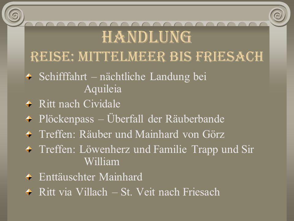 Handlung Prolog Eroberung von Akkon (blutige Schlacht) Streit Löwenherz vs.
