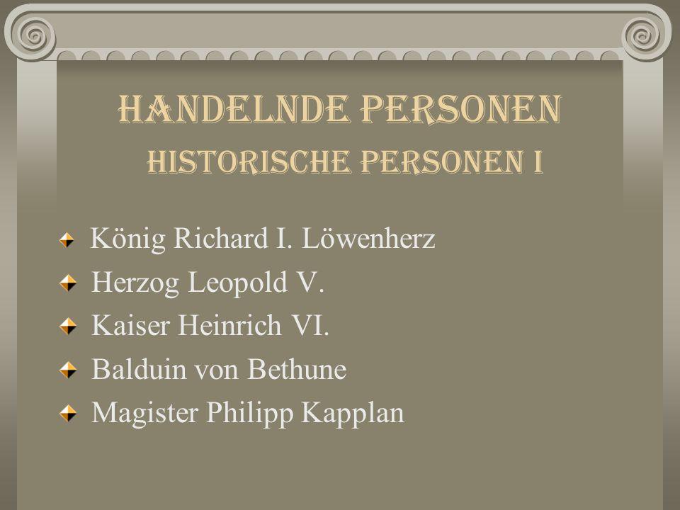 Historische Eckdaten 1191Akkon: Streit Löwenherz vs.