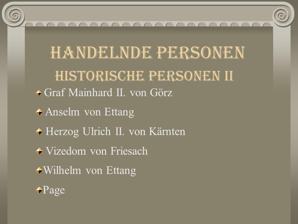 Handelnde Personen Historische Personen II Graf Mainhard II.