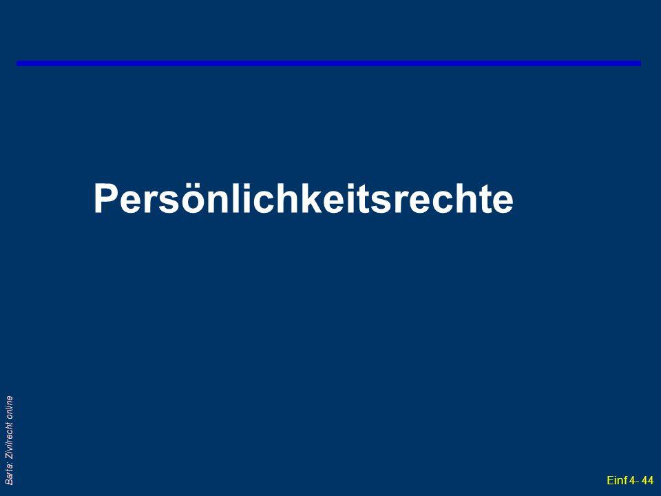 Einf 4- 44 Barta: Zivilrecht online Persönlichkeitsrechte