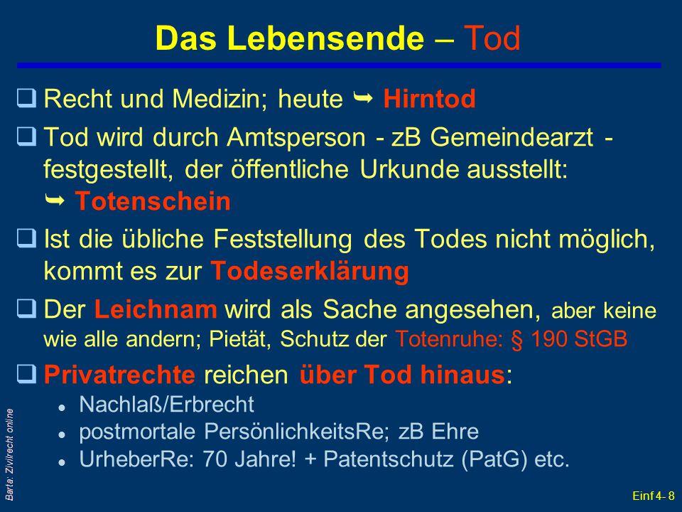 Einf 4- 39 Barta: Zivilrecht online Rechtsformen österreichischer Unternehmen: 1998 Nach Beschäftigten Quelle: ÖSTAT (31.12.1998); neuere Daten werden nicht mehr erhoben!