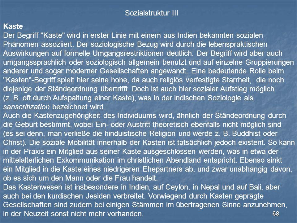 68 Sozialstruktur III Kaste Der Begriff