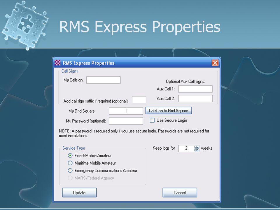 RMS Express Properties