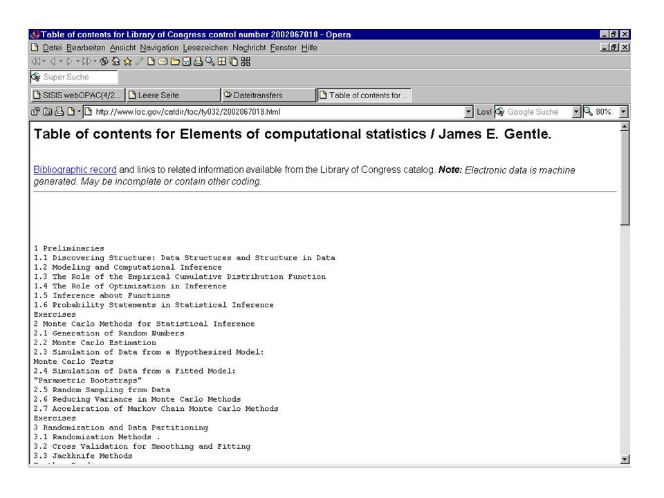 nicht Inhaltsverzeichnis [Zeichenkette Inhaltsverzeichnis mit Link auf http://...] sondern Inhaltsverzeichnis s.