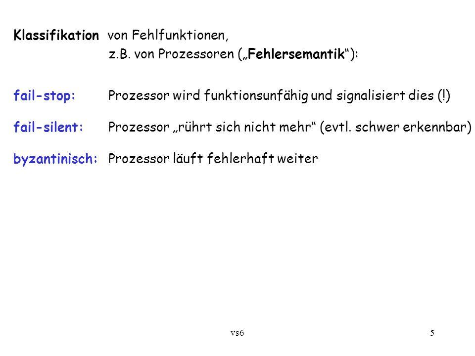 vs65 Klassifikation von Fehlfunktionen, z.B.