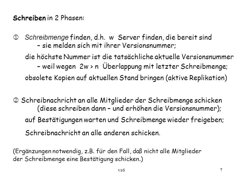vs67 Schreiben in 2 Phasen:  Schreibmenge finden, d.h.