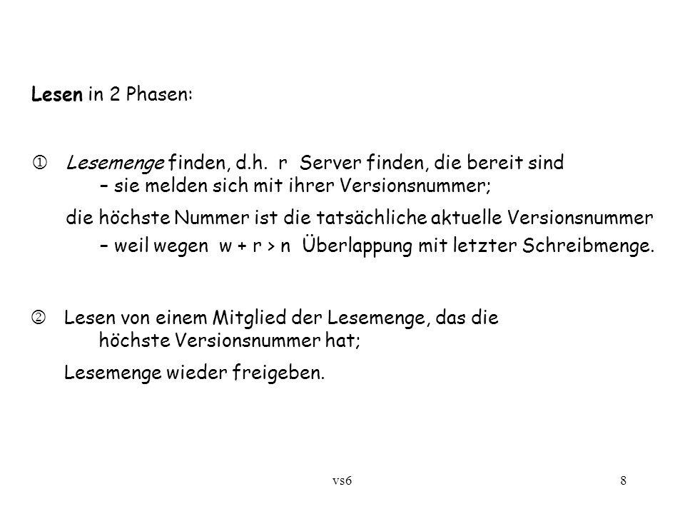 vs68 Lesen in 2 Phasen:  Lesemenge finden, d.h.