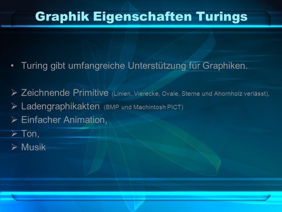 Graphik Eigenschaften Turings Turing gibt umfangreiche Unterstützung für Graphiken.