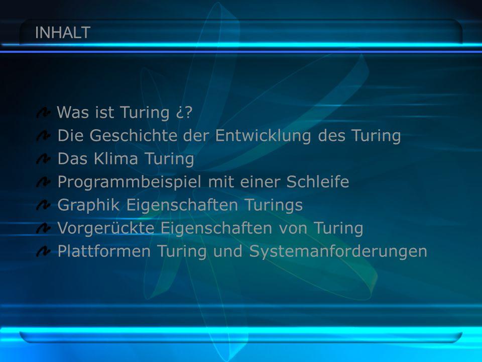 INHALT Was ist Turing ¿.