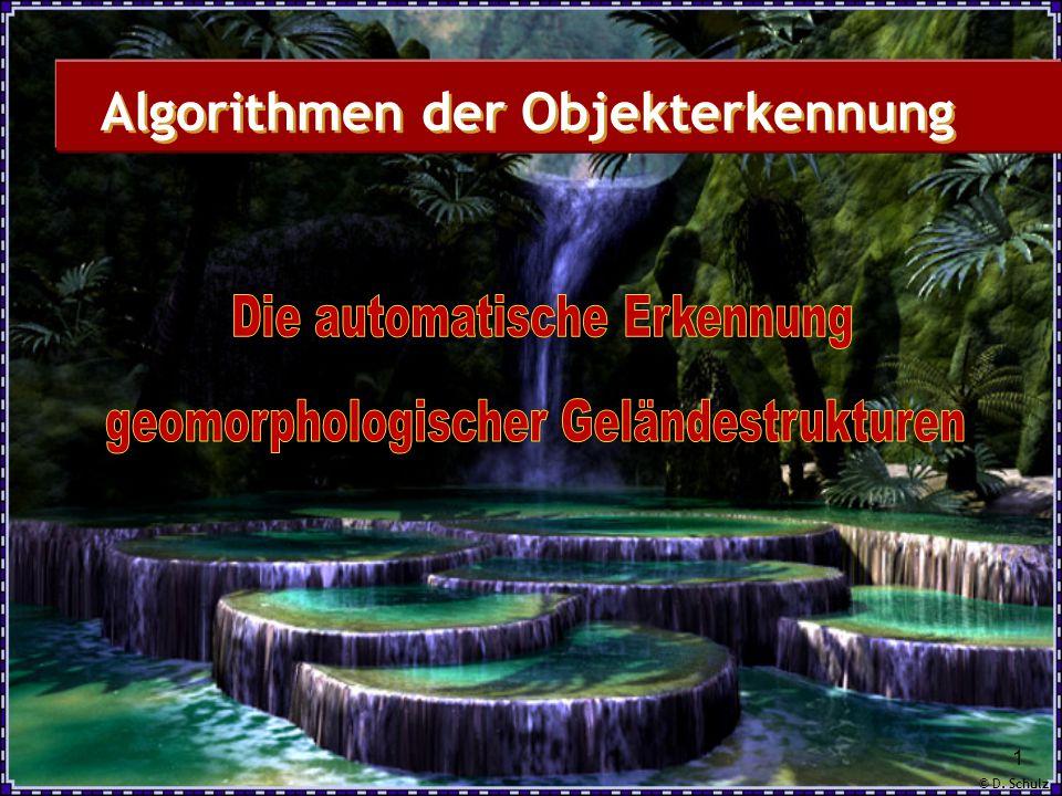 © D. Schulz 1 Algorithmen der Objekterkennung