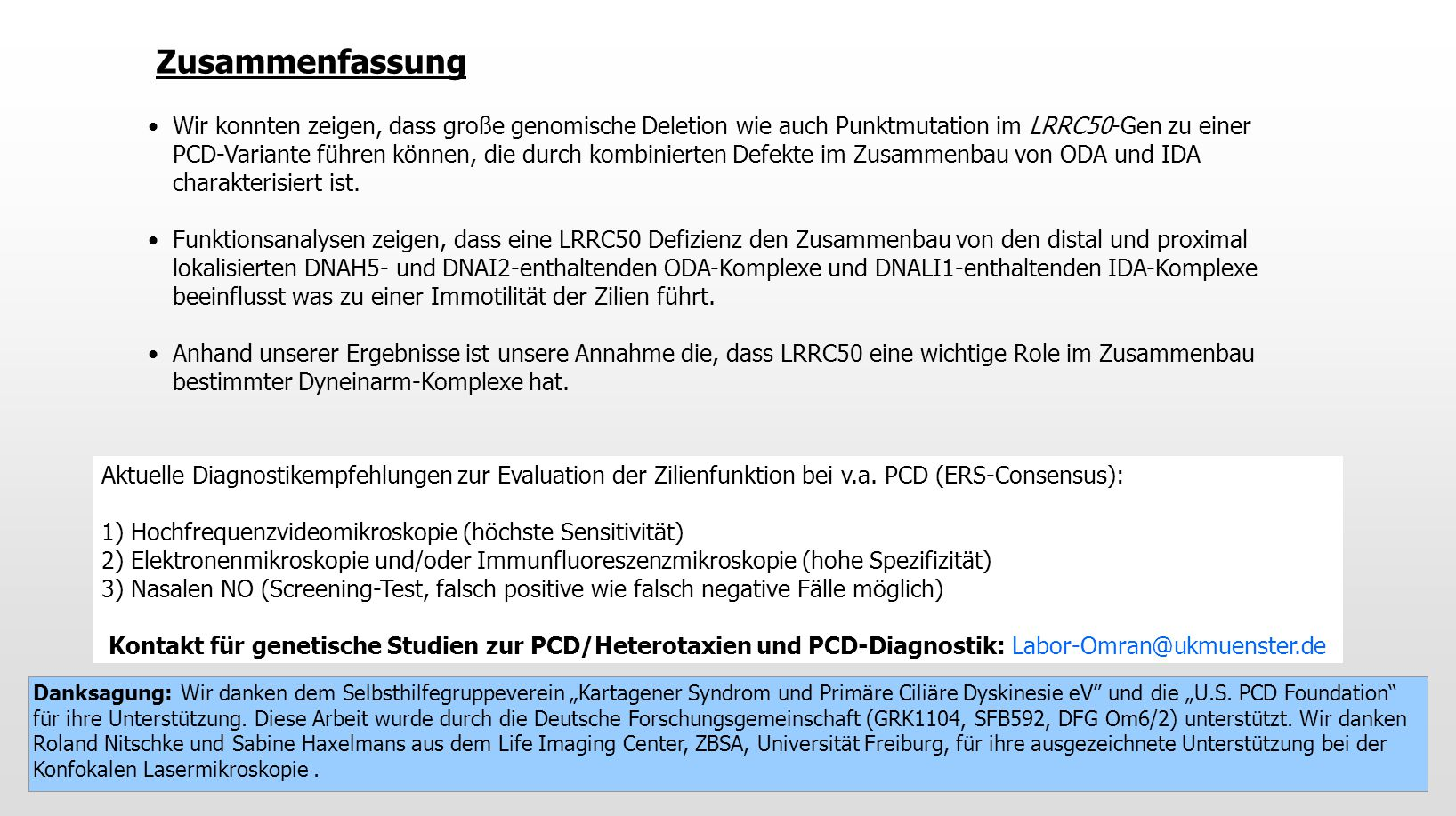Aktuelle Diagnostikempfehlungen zur Evaluation der Zilienfunktion bei v.a.