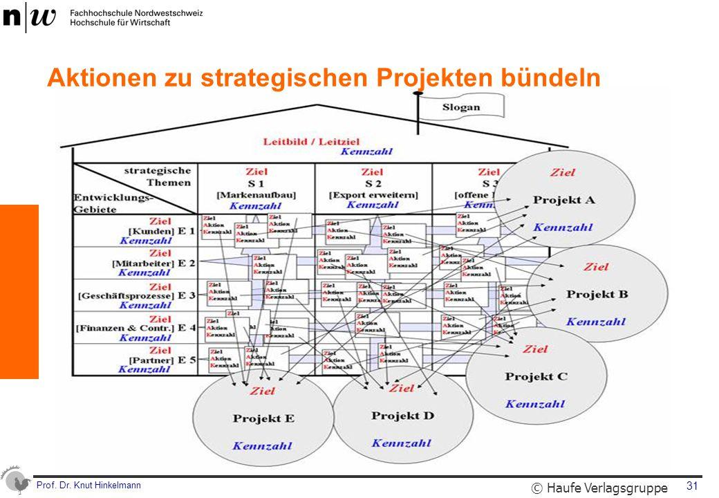 Prof. Dr. Knut Hinkelmann 31 Aktionen zu strategischen Projekten bündeln © Haufe Verlagsgruppe