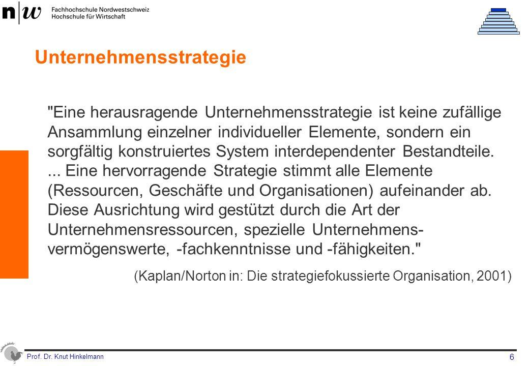 Prof. Dr. Knut Hinkelmann 6 Unternehmensstrategie