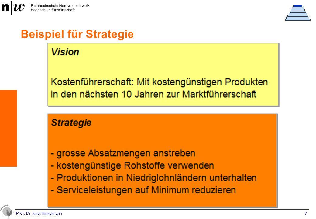 Prof. Dr. Knut Hinkelmann 7 Beispiel für Strategie