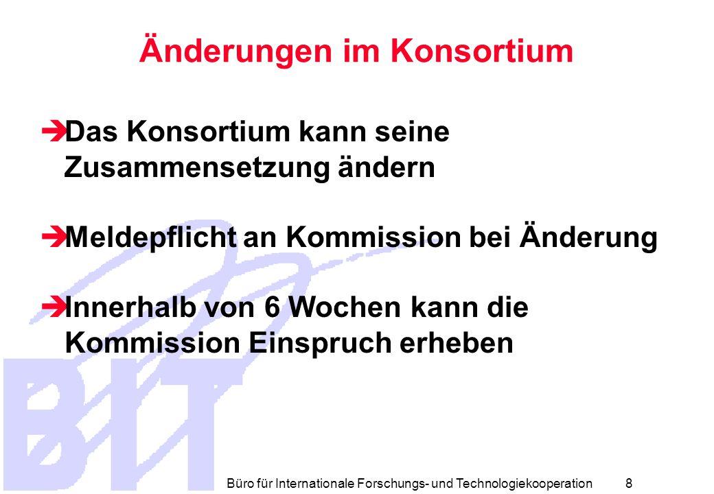 Büro für Internationale Forschungs- und Technologiekooperation 7 Haftung  Ausnahmen der Haftung  Int.