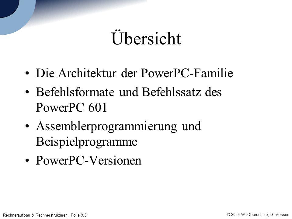 Rechneraufbau & Rechnerstrukturen, Folie 9.3 © 2006 W.