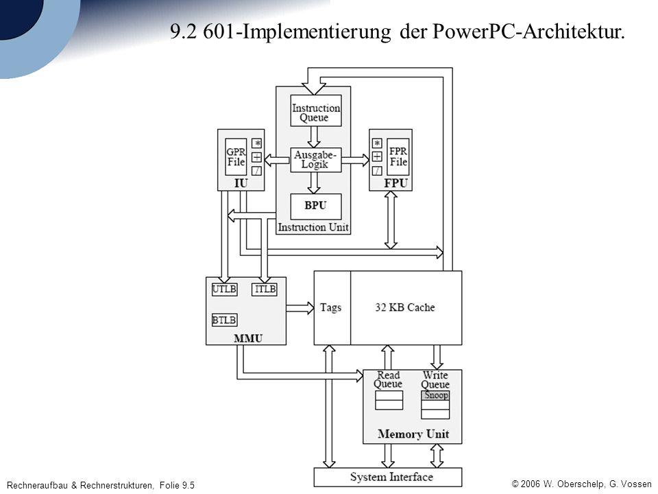 Rechneraufbau & Rechnerstrukturen, Folie 9.5 © 2006 W.
