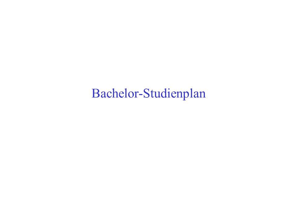 Bachelor-Studienplan