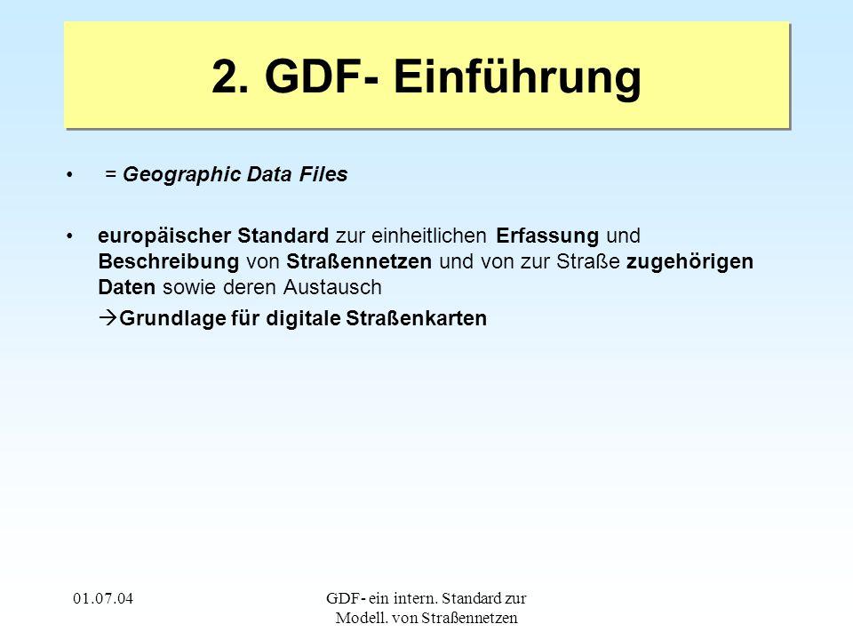 01.07.04GDF- ein intern. Standard zur Modell. von Straßennetzen 2.