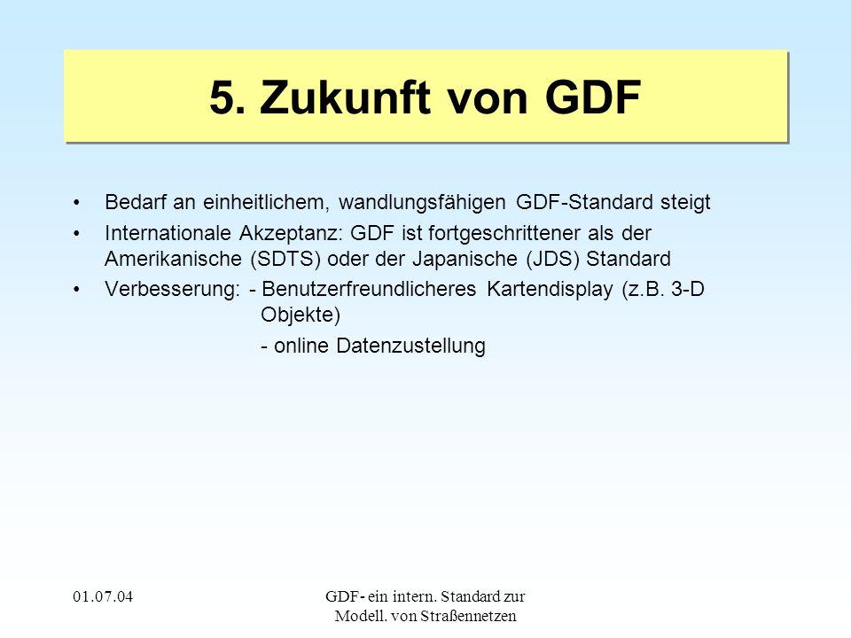 01.07.04GDF- ein intern. Standard zur Modell. von Straßennetzen 5.
