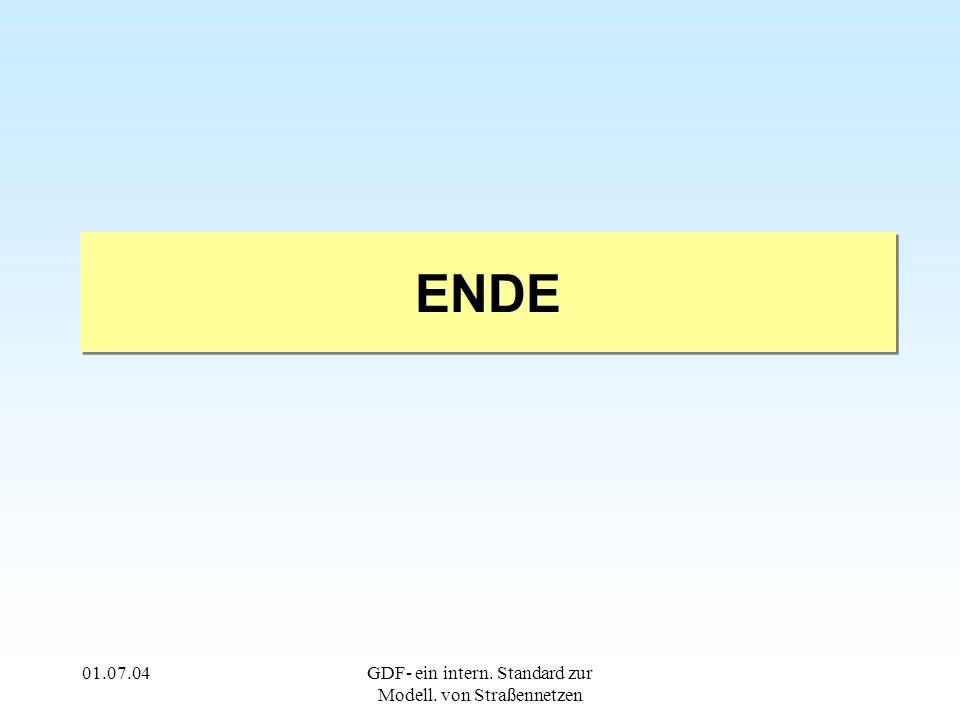 01.07.04GDF- ein intern. Standard zur Modell. von Straßennetzen ENDE
