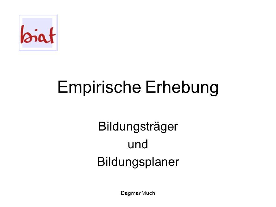 Dagmar Much Empirische Erhebung Bildungsträger und Bildungsplaner