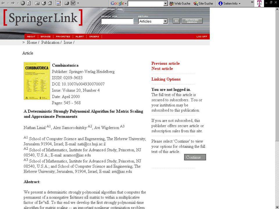 Joachim Luegger, KOBV-Zentrale Januar 2004 Abstract bei Springer LINK