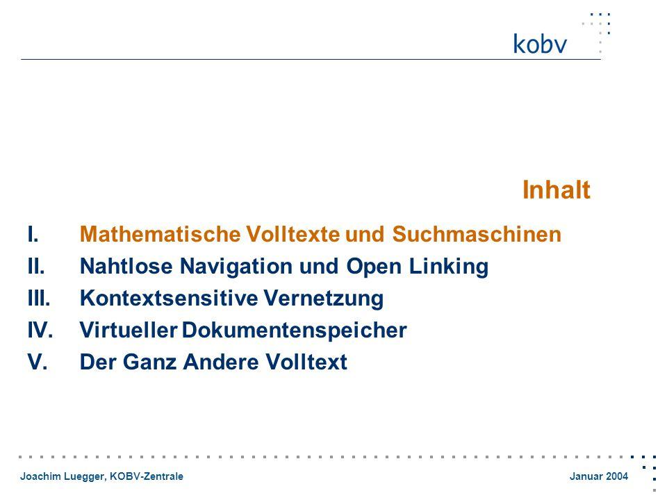 Joachim Luegger, KOBV-Zentrale Januar 2004 Was tun, wenn...