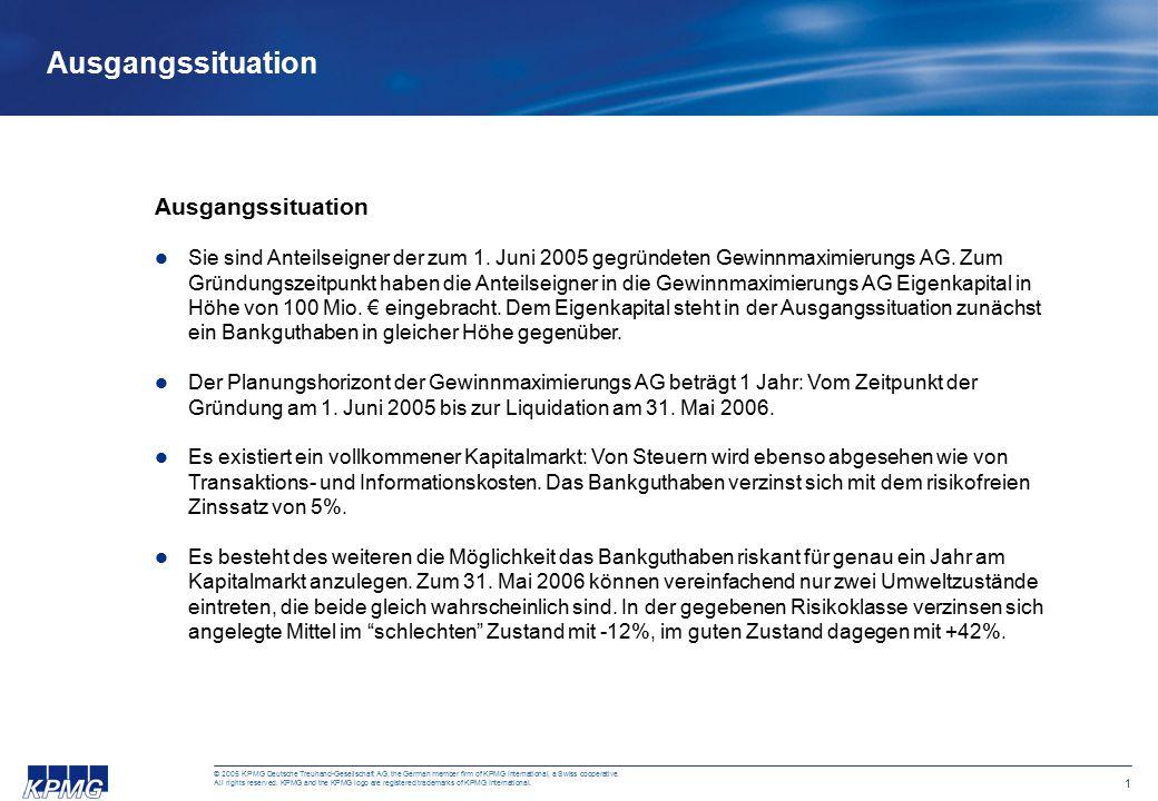 12 © 2005 KPMG Deutsche Treuhand-Gesellschaft AG, the German member firm of KPMG International, a Swiss cooperative.