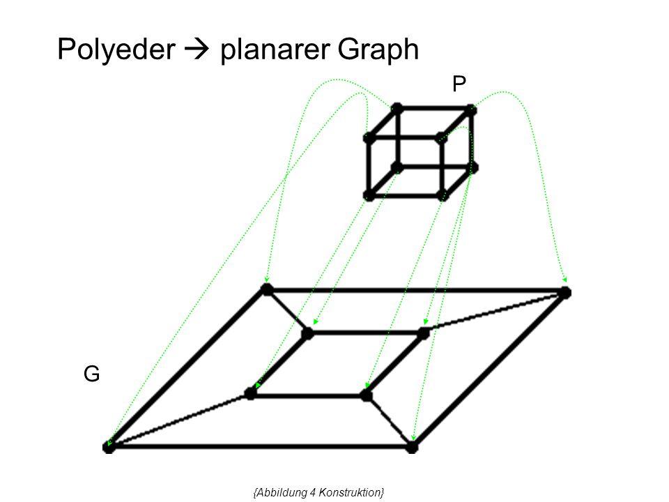 Polyeder  planarer Graph P G {Abbildung 4 Konstruktion}