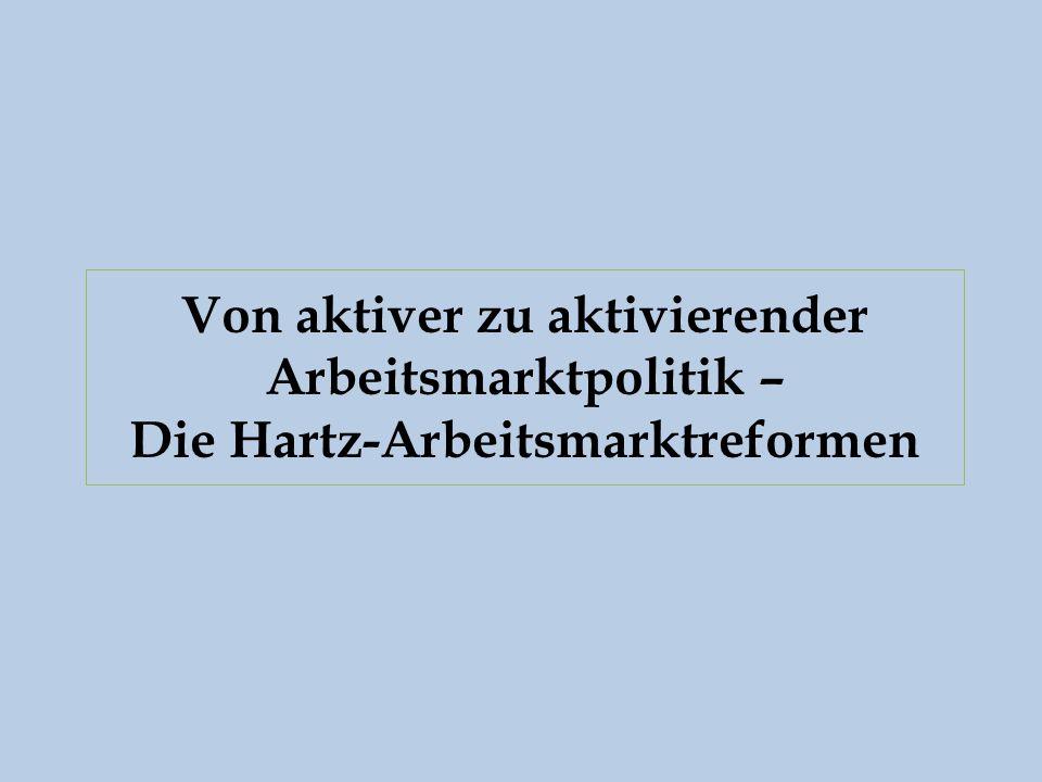 Von aktiver zu aktivierender Arbeitsmarktpolitik – Die Hartz-Arbeitsmarktreformen