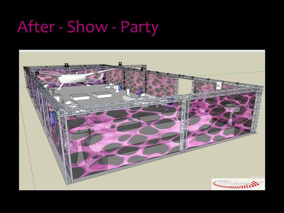 Veranstaltungsdesign Idee und Umsetzung des Designs Farbkonzept - Purple