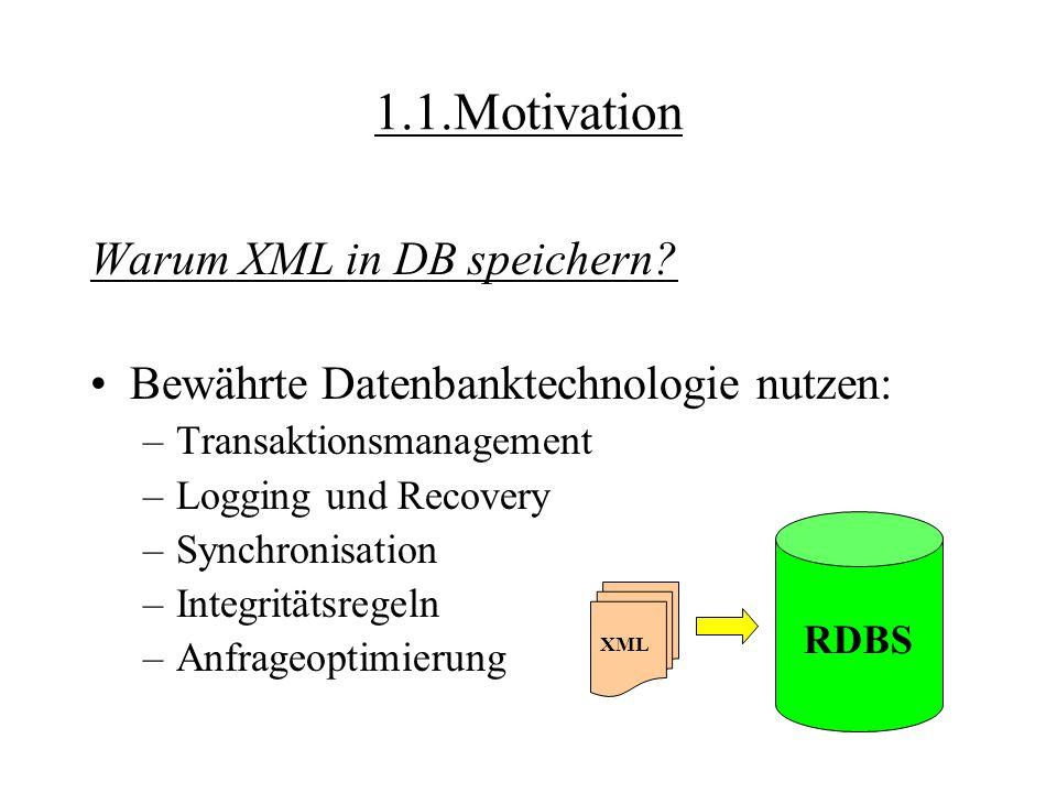 XML-Column und XML-Collection