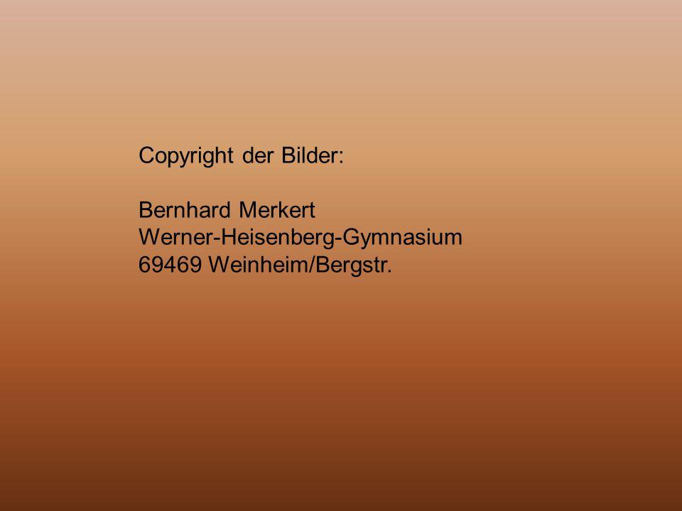 Copyright der Bilder: Bernhard Merkert Werner-Heisenberg-Gymnasium 69469 Weinheim/Bergstr.